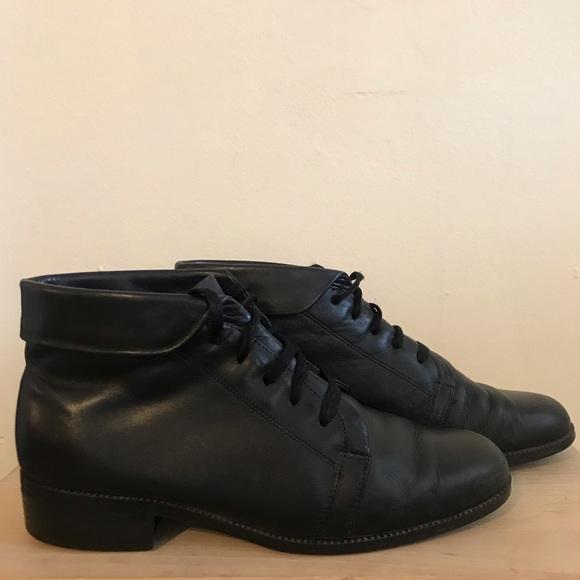 c18d6971d Cabin Creek Shoes | Vintage 90s Style Black Lace Up Ankle Boots ...